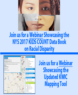 Register for Webinars on NYS 2017 KIDS COUNT Data Book and the KWIC Updated Mapping Tool